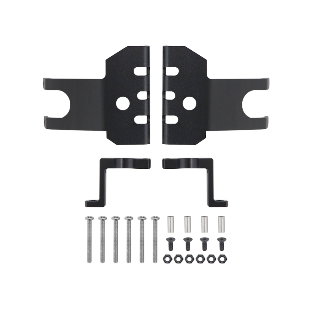 2 Pcs Axle Front + Rear Protection Board 1/10 RC Aluminum Skid Plate Assembly for Axial Wraith RR10 Crawler black