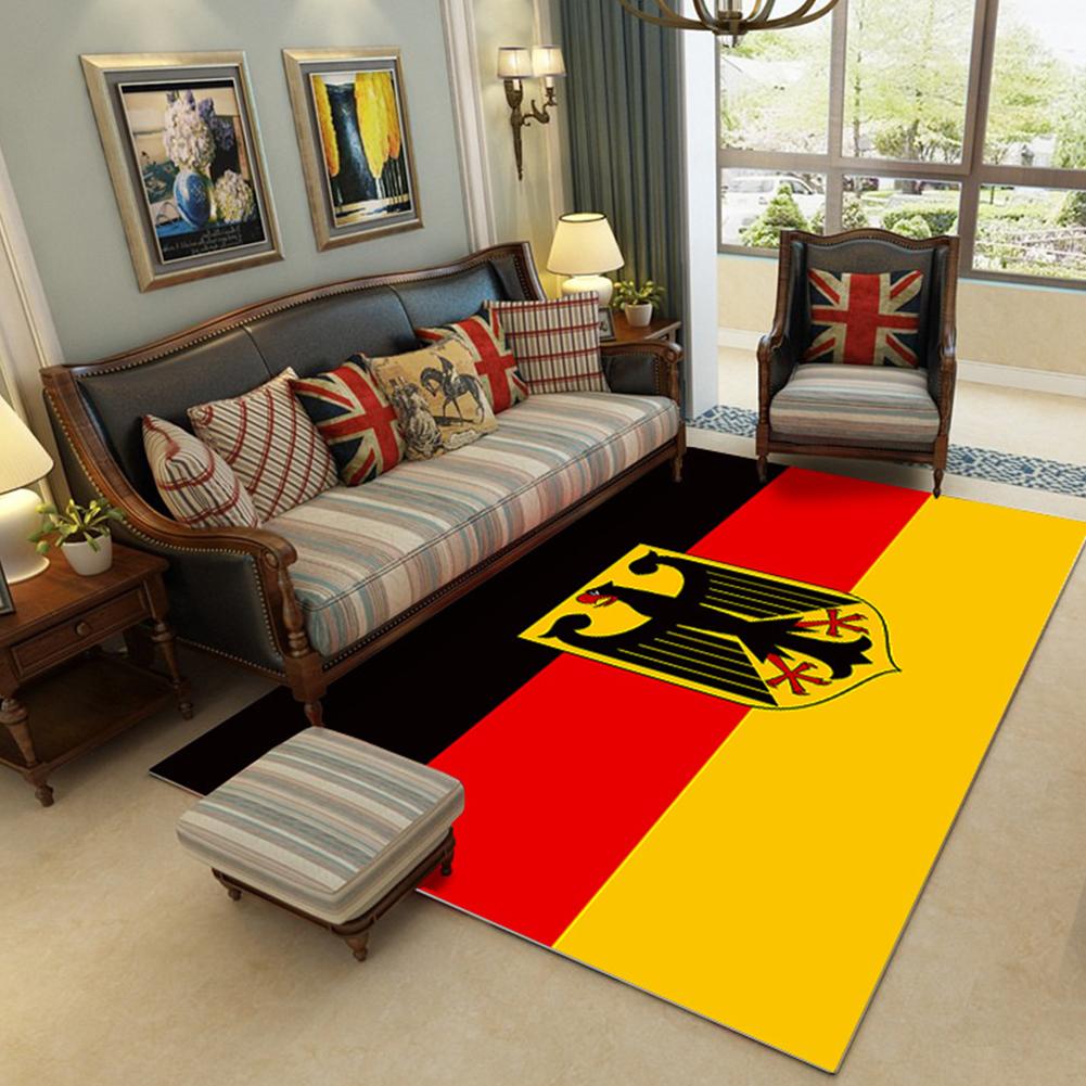 Modern National Flat Printing Carpet Mat for Living room Bedroom Bedside Yellow red black flag_80*120cm