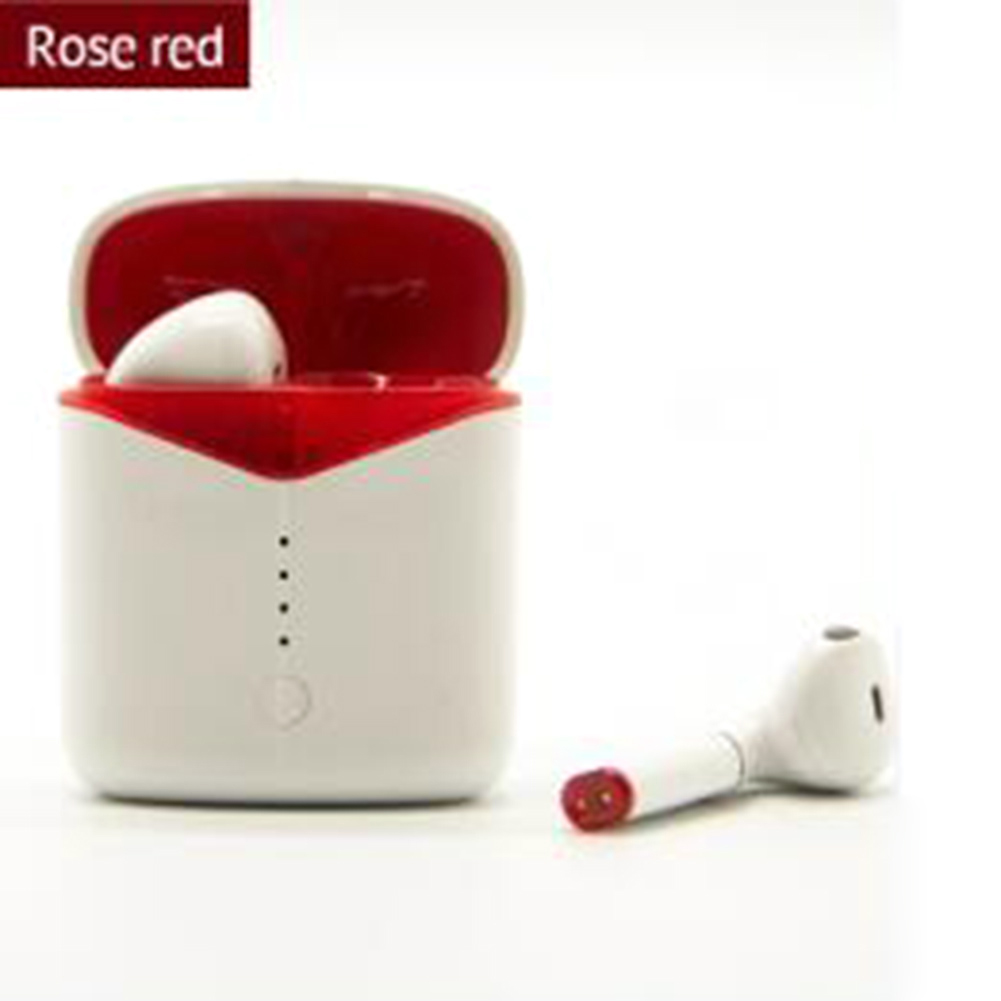 New Wireless Headset P20 Bluetooth 5.0 Stereo Touch Headset with Wireless Charging for Mobile Phone red