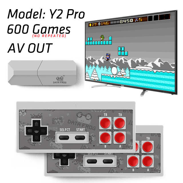 Retro Video Game Console Mini Wireless Console AV Output Dual Gamepads Game Console gray