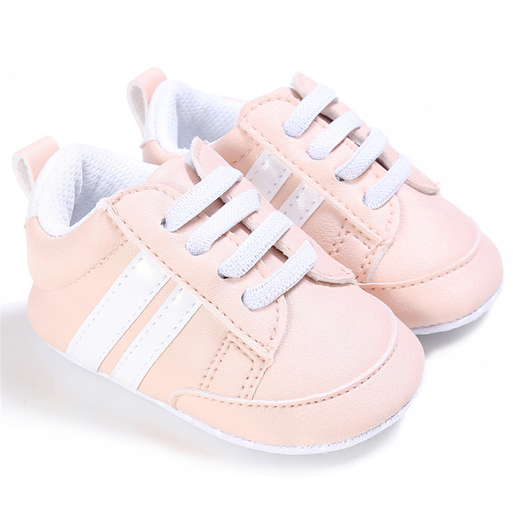 Baby Shoes Spring and Autumn Sports Soft-soled Toddler Shoes for 0-18M Babies Pink white border_12