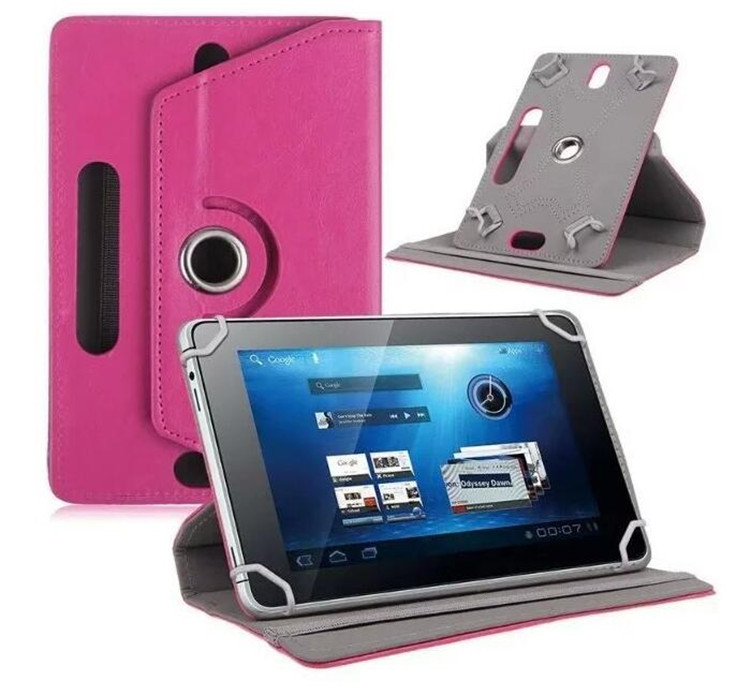 Four Hook Leather Tablet Protection Case
