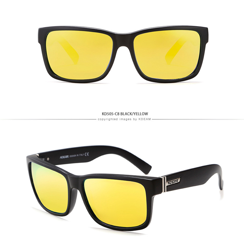 Fashion Square Sports Sunglasses Polarized UV400 Outdoor Sunglasses