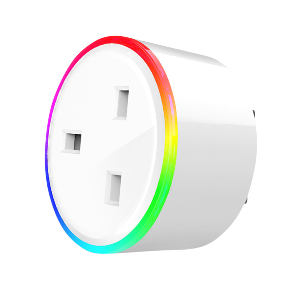 RGB Colors Change Wifi Intelligent Socket British Regulation British regulatory