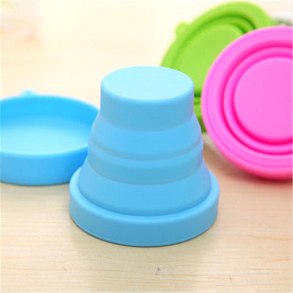 Retractable Folding Silicone Water Cup-Blue