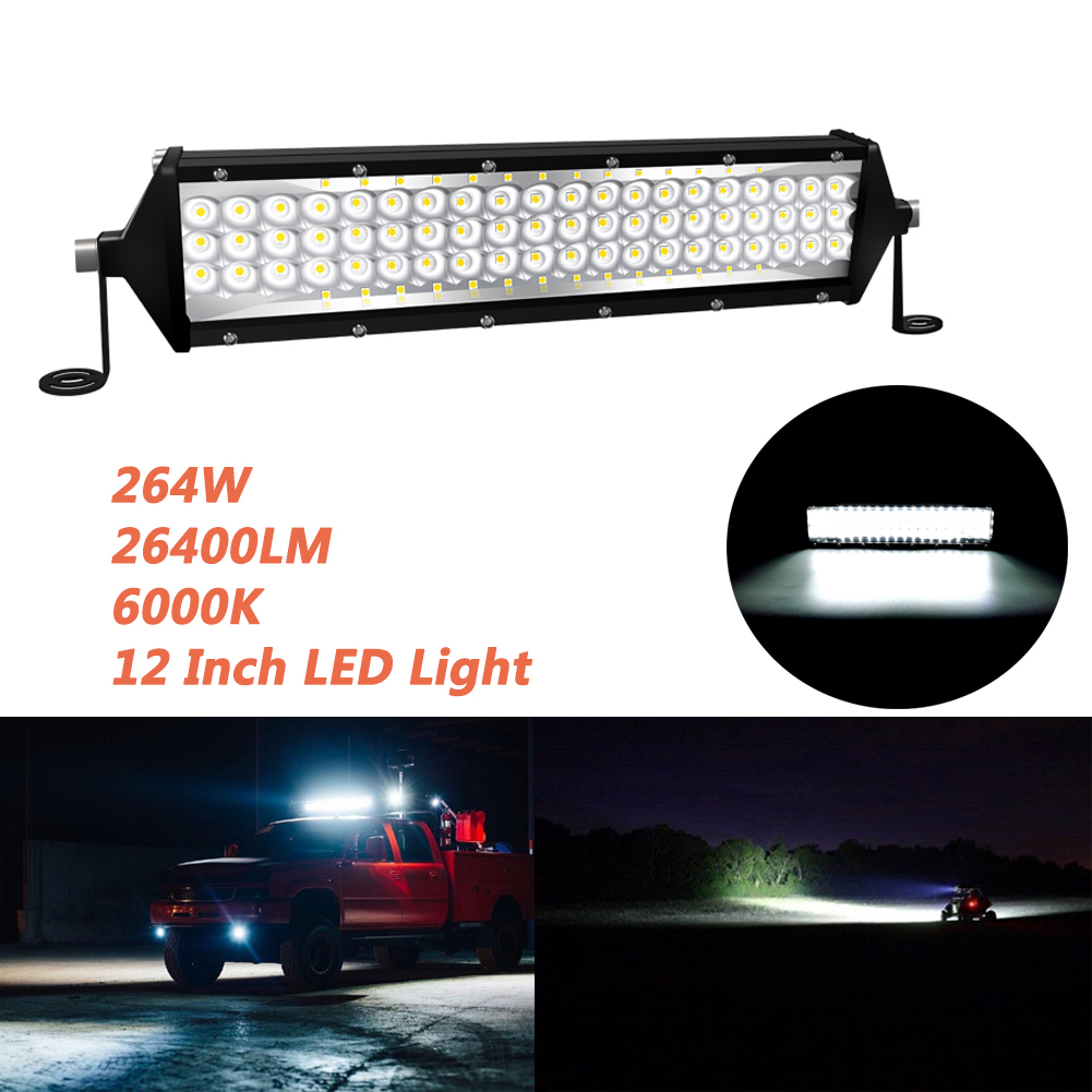 LED Bar 5 Row 88 Chip 264W 26400LM LED Light Bar Car Tractor Truck Headlight Light Bar black