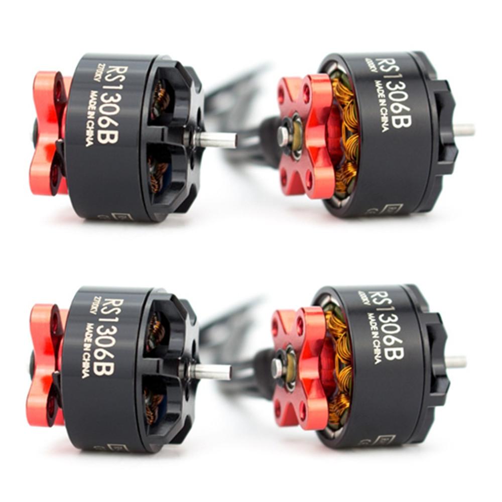 Brushless Motor EMAX 1306 RS1306 Version 2 RS1306B 2700KV/4000KV Brushless Motor 3-4S for RC MultiRotor Fpv Racing Drone Spare Part 4000KV 4pcs
