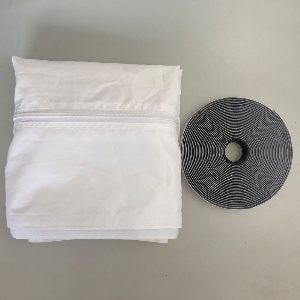 Home Soft Cloth Window Seal for Portable Air Conditioner Gray 4 meters