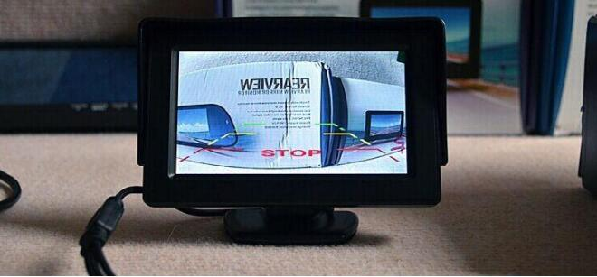 4.3 Inch Rearview Mirror Monitor -  Button Control, 4:3 Ratio, 480x234