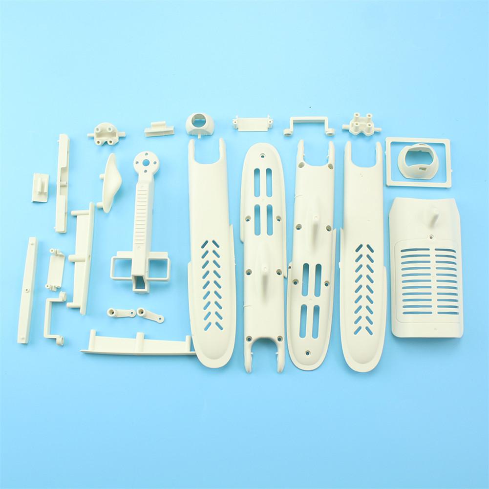 Motor Base Receiver Housing Swing Arm Steering Gear Base Lens Base Accessory Kits for WLtoys XK X450.0021 white