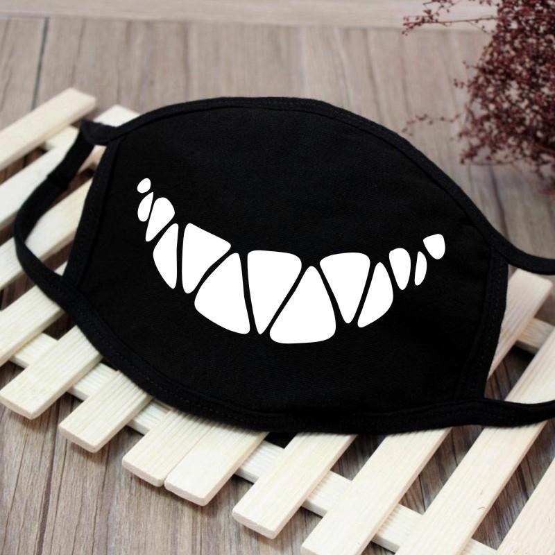 Men Women Riding Cotton Mask Breathable Dust-proof Facial Mouth Protection Fashion Black Mask KZ-3035