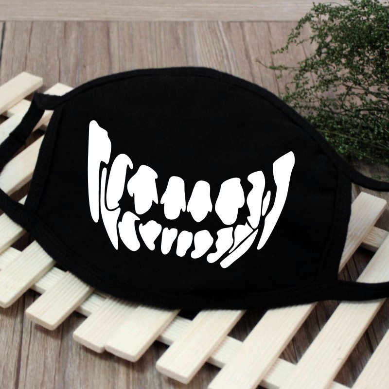 Men Women Riding Cotton Mask Breathable Dust-proof Facial Mouth Protection Fashion Black Mask KZ-3034