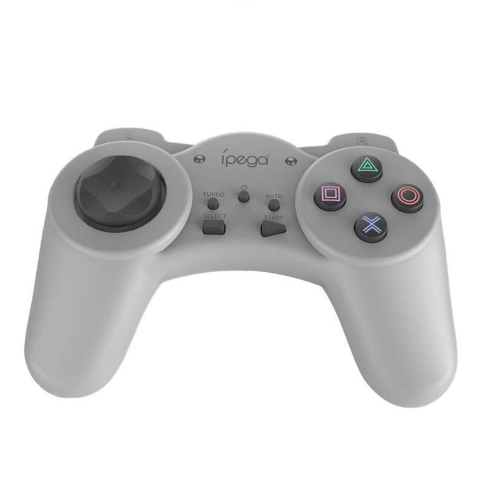 IPEGA Mini Gamepad Game Controller with Turbo Function Silver grey