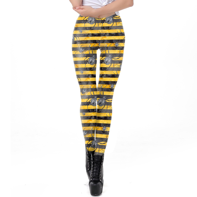 Female Halloween Elements Printing Long Trousers Slim Cosplaying Costume  WKDK1028_S