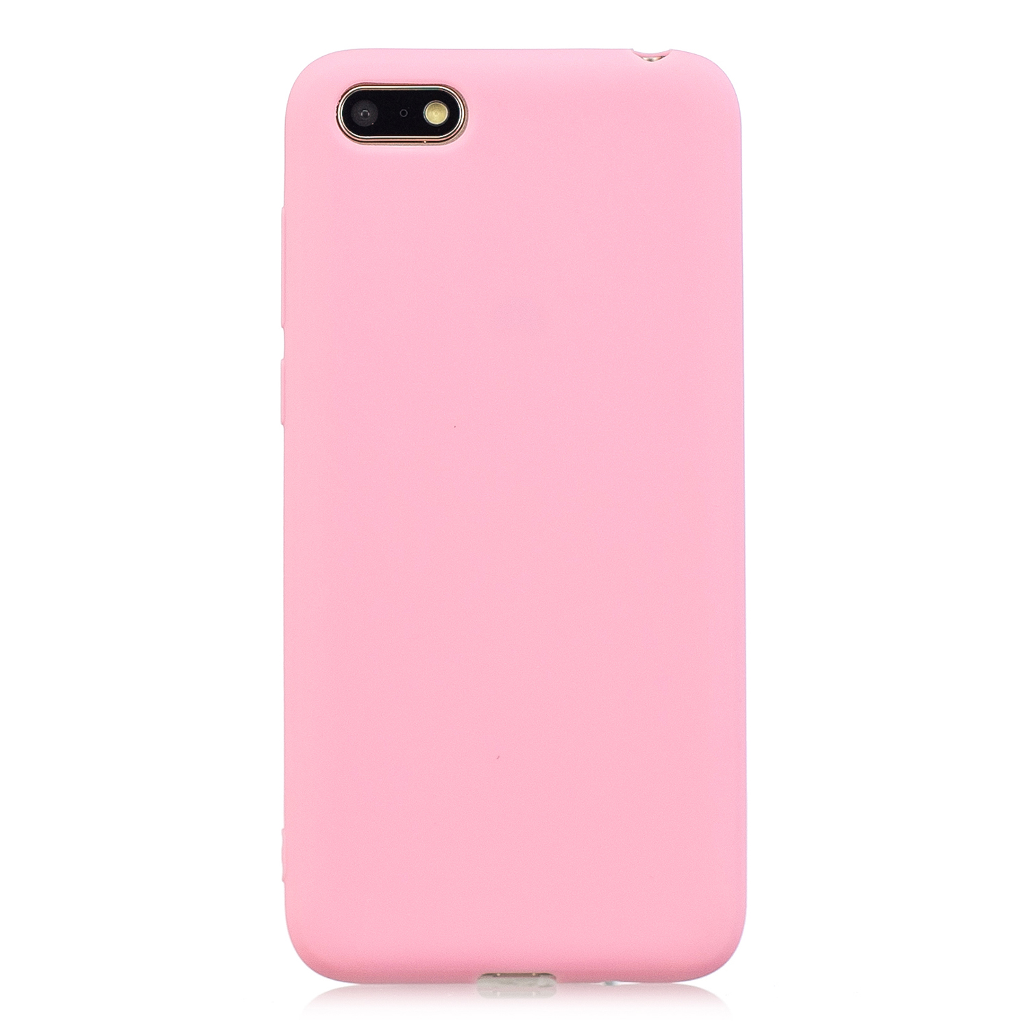 for HUAWEI Y5 2018 Cute Candy Color Matte TPU Anti-scratch Non-slip Protective Cover Back Case dark pink