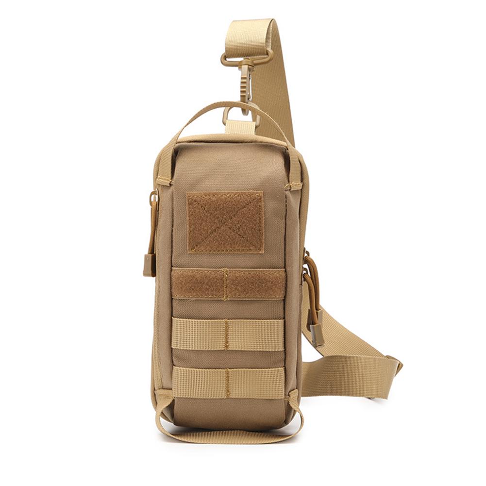 Sling  Shoulder  Bag Sports Outdoor Running Chest Bag Multifunctional Waterproof Belt Waist Pack Khaki