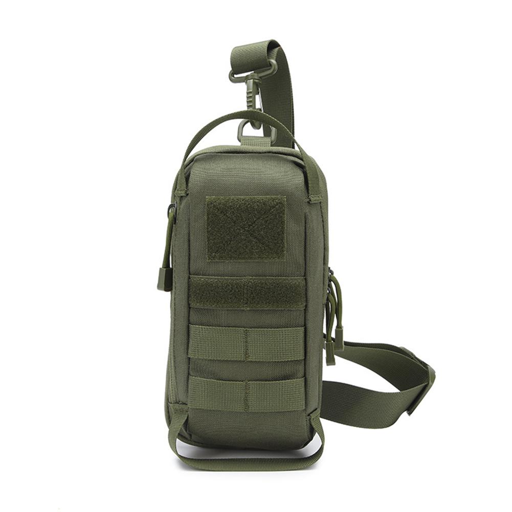 Sling  Shoulder  Bag Sports Outdoor Running Chest Bag Multifunctional Waterproof Belt Waist Pack Olive