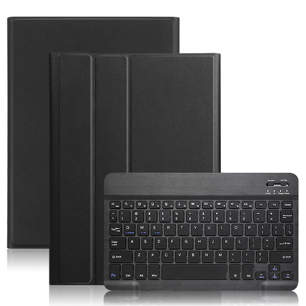 Bluetooth Keyboard for Samsung Galaxy Tab A 10.1inch 2019 SM-T510/T515 Colorful Backlit Wireless Keyboard with PU Leather Case  black