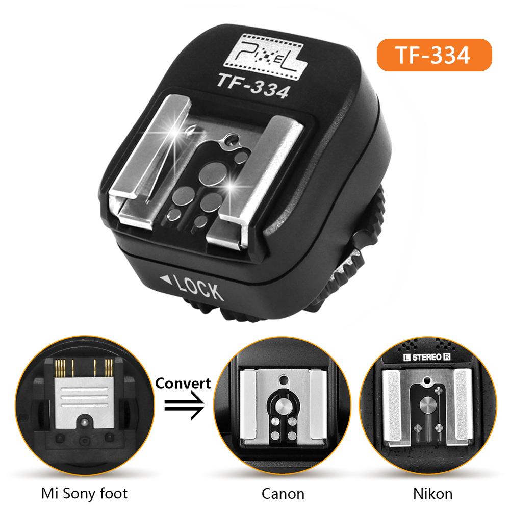 TF-334 Hot Shoe Adapter for Converting Sony Mi A7 A7RII A7II Camera to Canon Nikon Yongnuo Flash Speedlite black