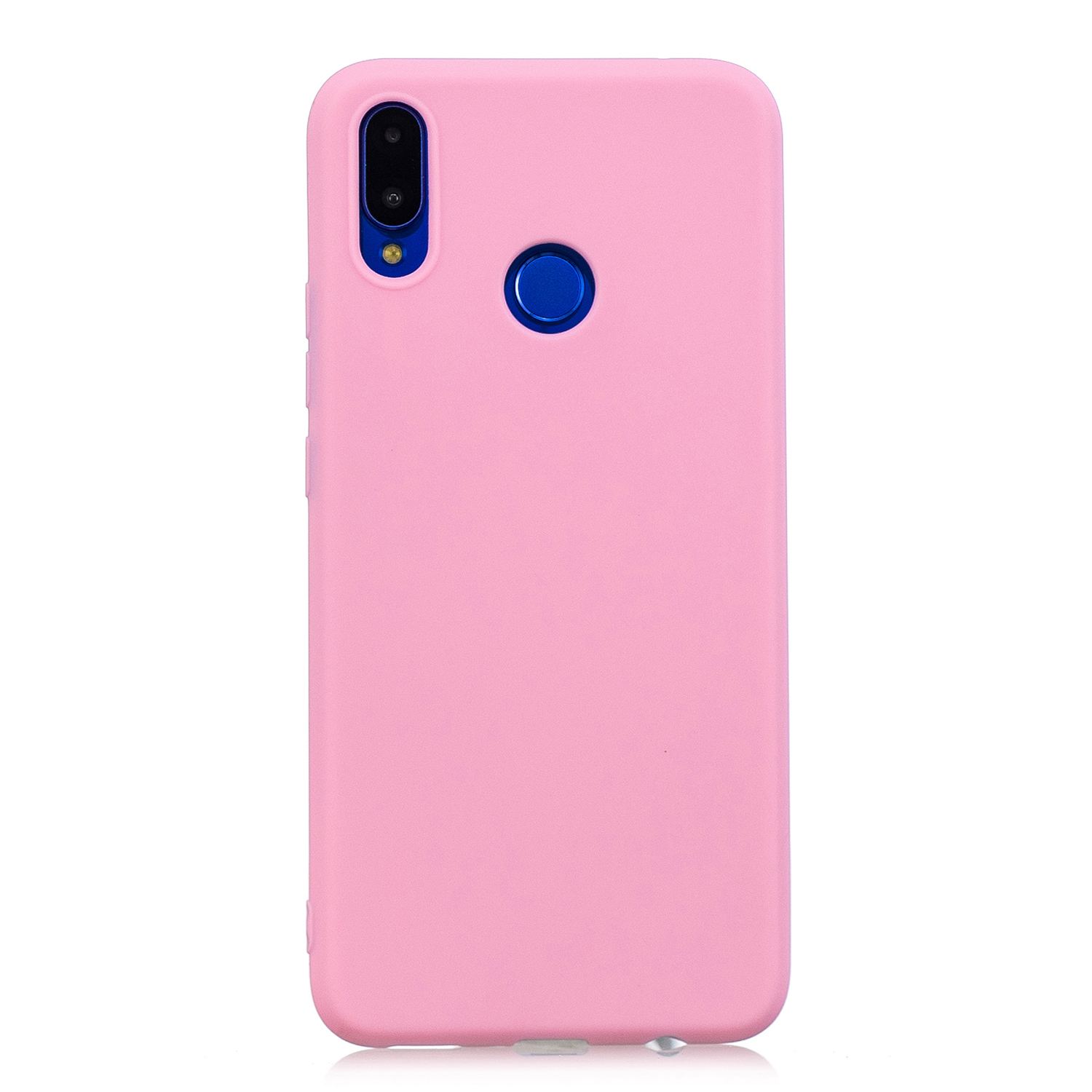 For HUAWEI Honor 8C Lovely Candy Color Matte TPU Anti-scratch Non-slip Protective Cover Back Case dark pink