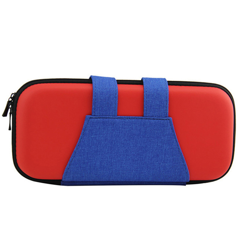Portable Hard Shell Case for Nintend Switch Dual Zipper Magnetic Button Pouch Storage Bag NS Console Cases Protective Cover red