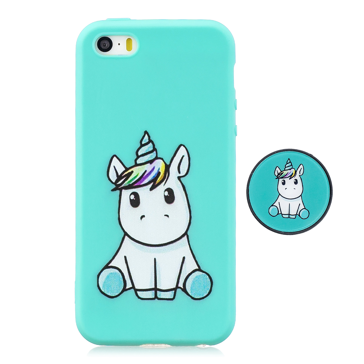 For iPhone 5 5S SE Phone Cases TPU Full Cover Cute Cartoon Painted Case Girls Mobile Phone Cover 5