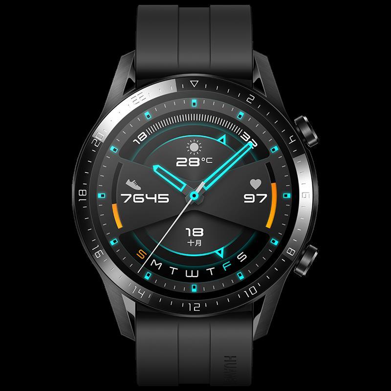 Original Huawei Watch Gt 2 Obsidian Black_Black Viton strap