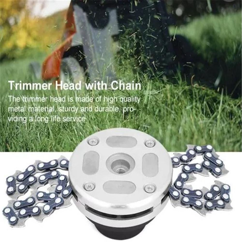 65mn Lawn Mower Blade Replacement Chain Garden Lawn Brush Cutter Accessories Black grass head