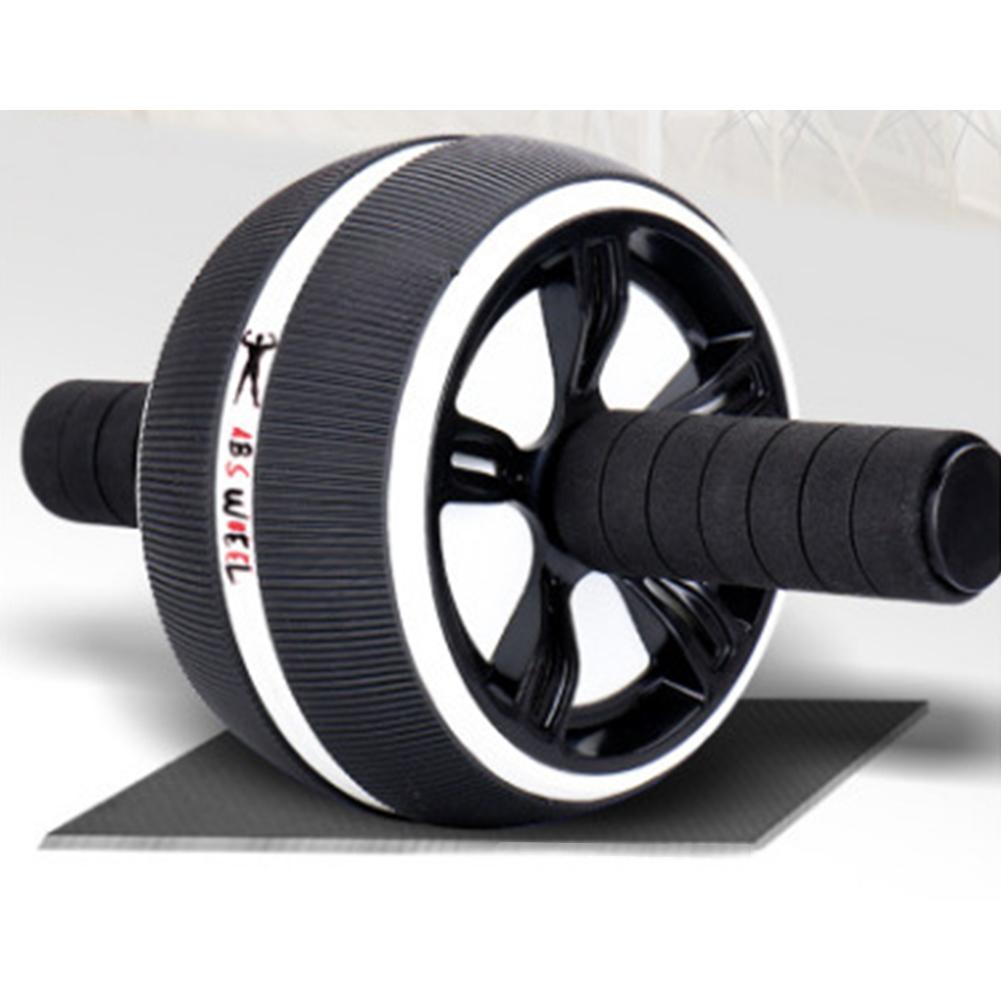 Men Women Abdominal Muscles Fitness Equipment Home Use Abdomen Health Training Abdomen Roller Exercise Wheel white