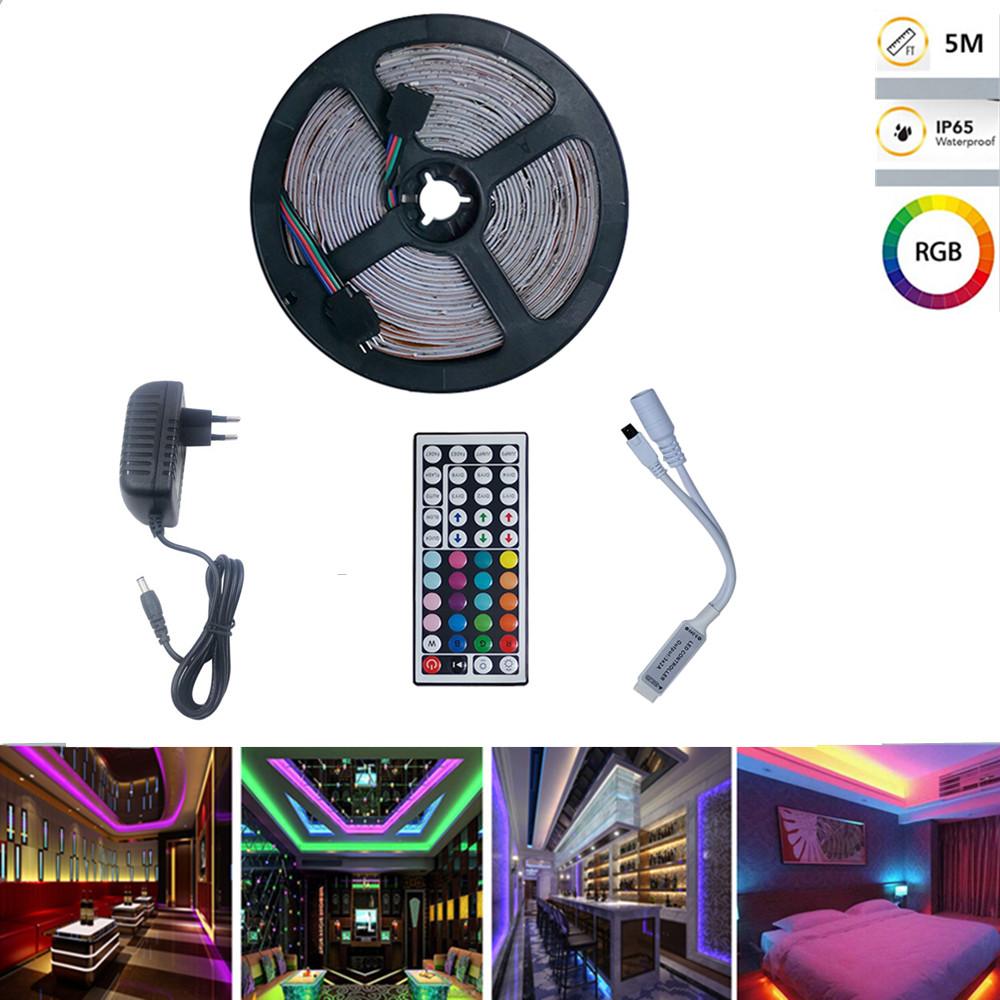 300LEDs RGB 15 Colors Strip Light 5M IP65 Waterproof SMD3528 Bright Lamp European regulations