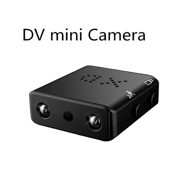 Mini Camera 1080P HD Camcorder Infrared Night Vision Micro Motion Detection DV DVR Security Camera without WiFi black