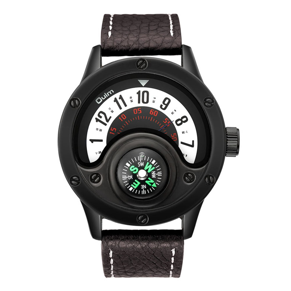 Oulm HP3880 Men Quartz Sports Watch Coffee