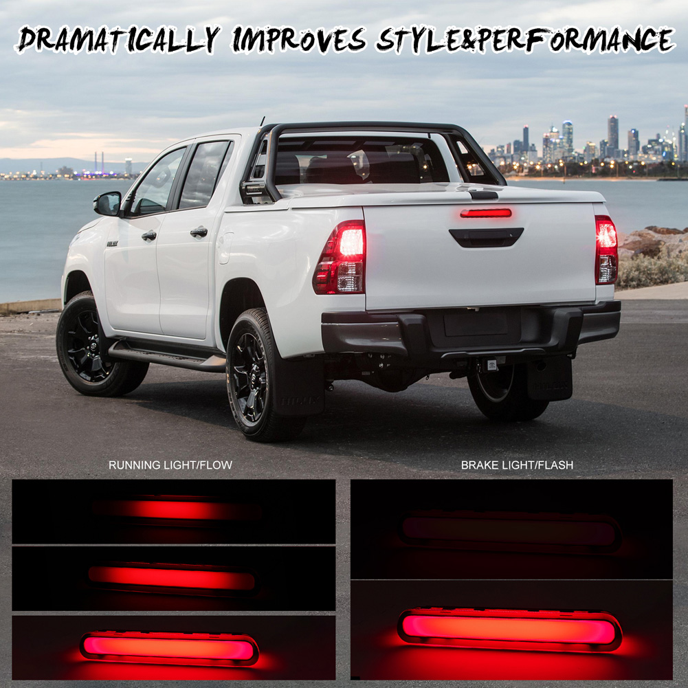 For Toyota Hilux VIGO 2015-2017 Car LED Rear Brake Light Middle Stop Third Tail High Brake Lamp Short black