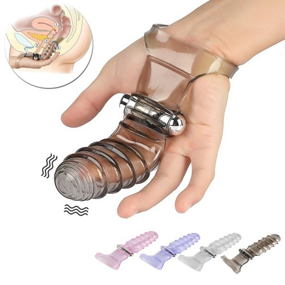 Finger Sleeve Vibrator Female Masturbator G-Spot Massager Clitoris Stimulate Sex Toys black