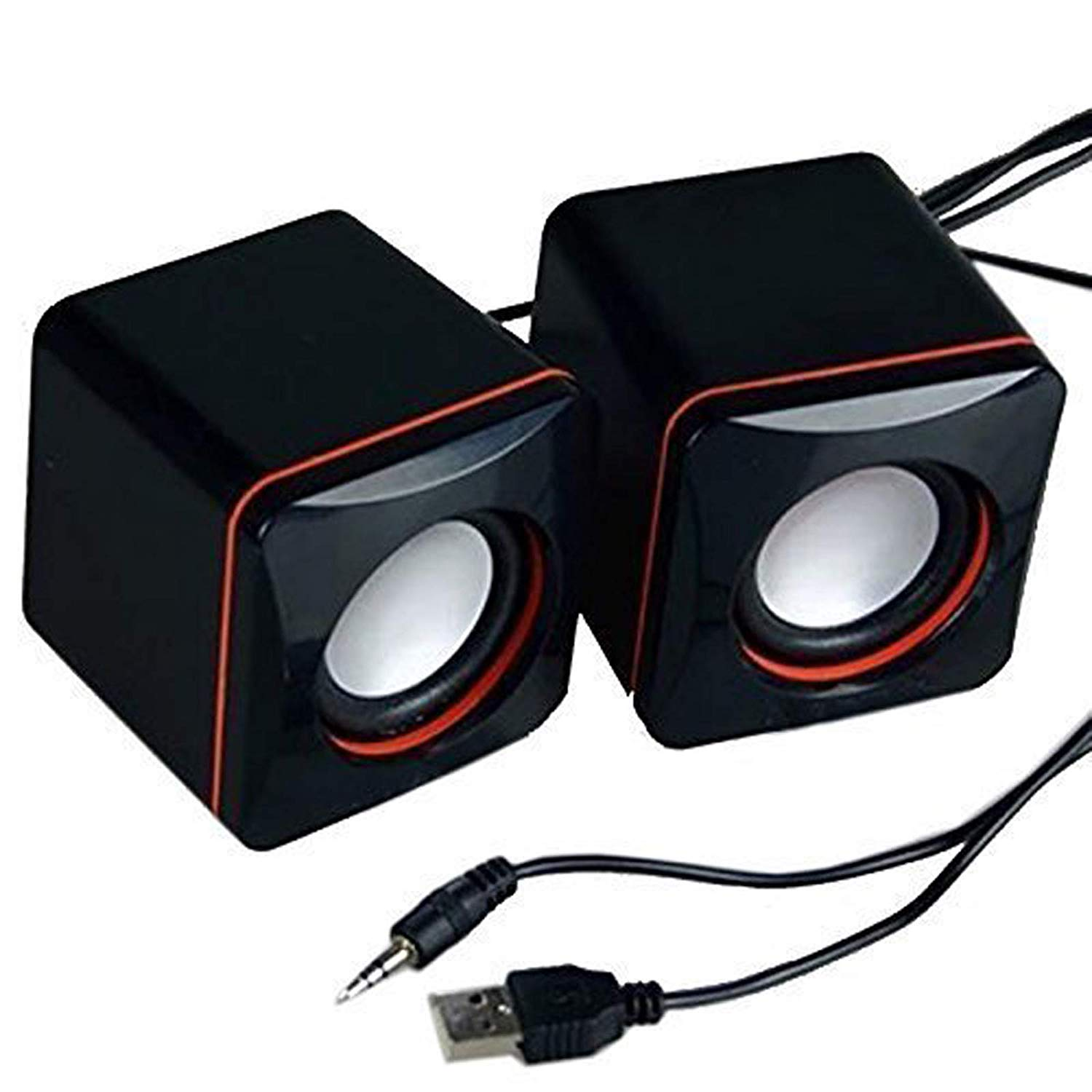 Portable Computer Speakers USB Powered Desktop Mini Speaker Bass Sound Music Player System Wired Small Speaker  black