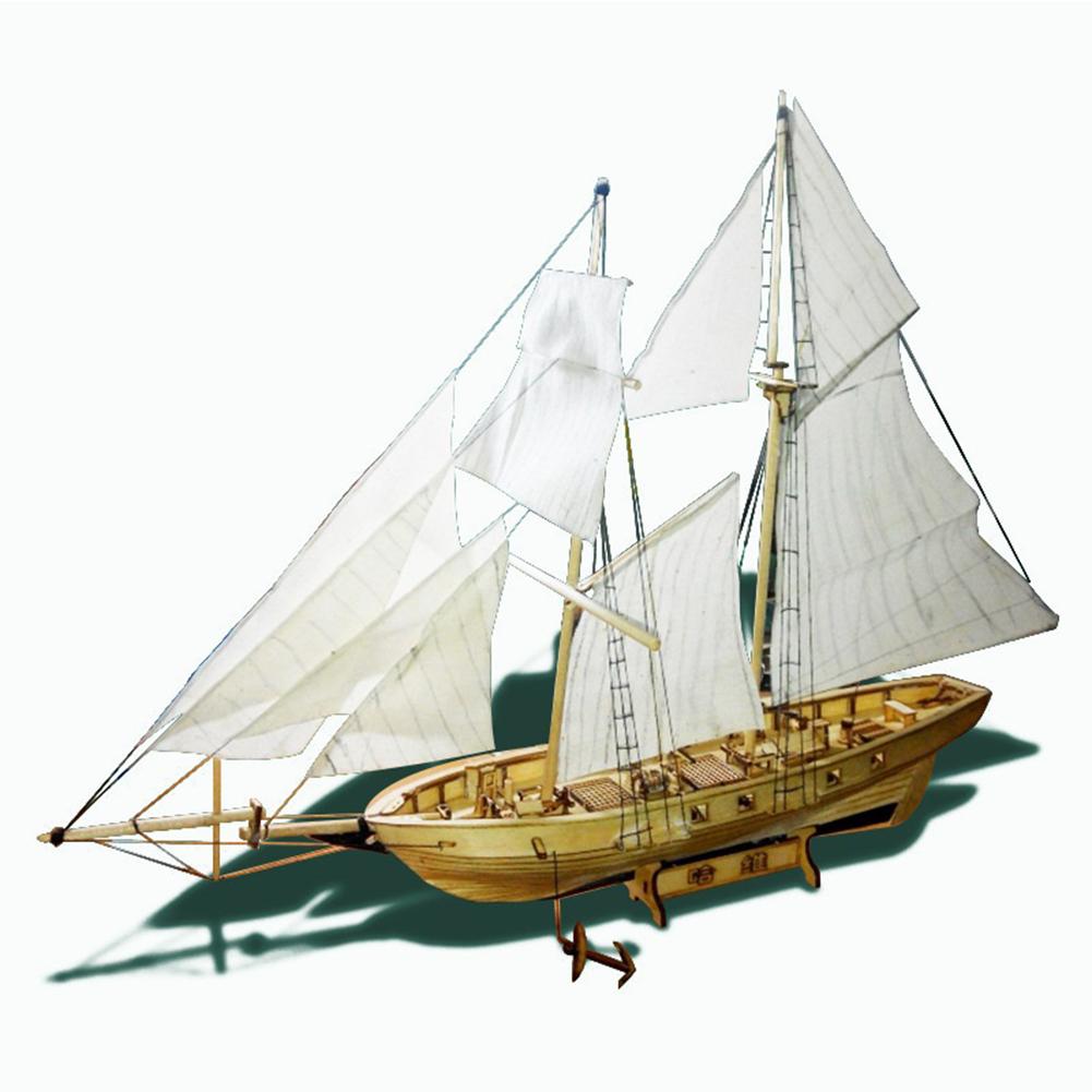 Assembling  Model Harvey Wooden Ship Diy Sailboat Assembly  Model White box