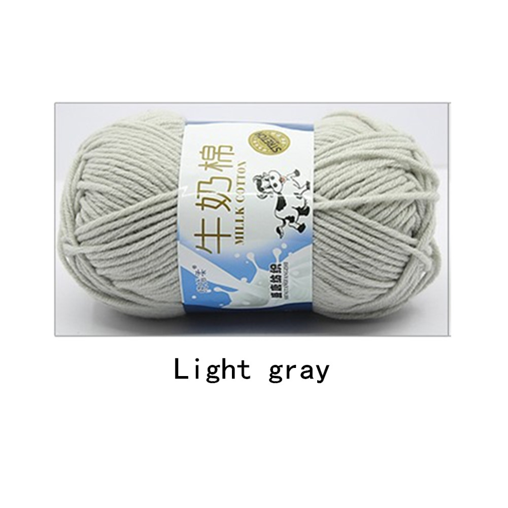 Hand Knitting Cotton Knitting Wool Doll Thread for Knitting Scarves Gloves Clothes Light gray
