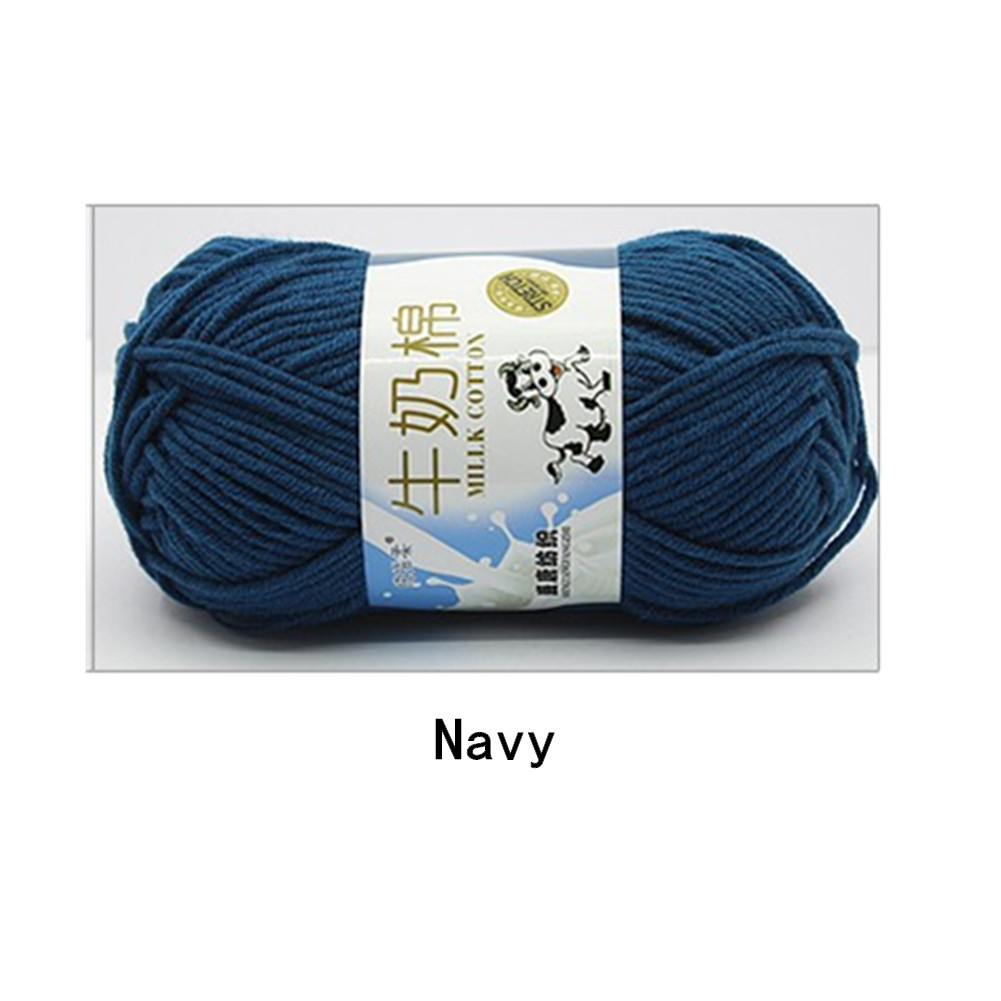 Hand Knitting Cotton Knitting Wool Doll Thread for Knitting Scarves Gloves Clothes Navy blue