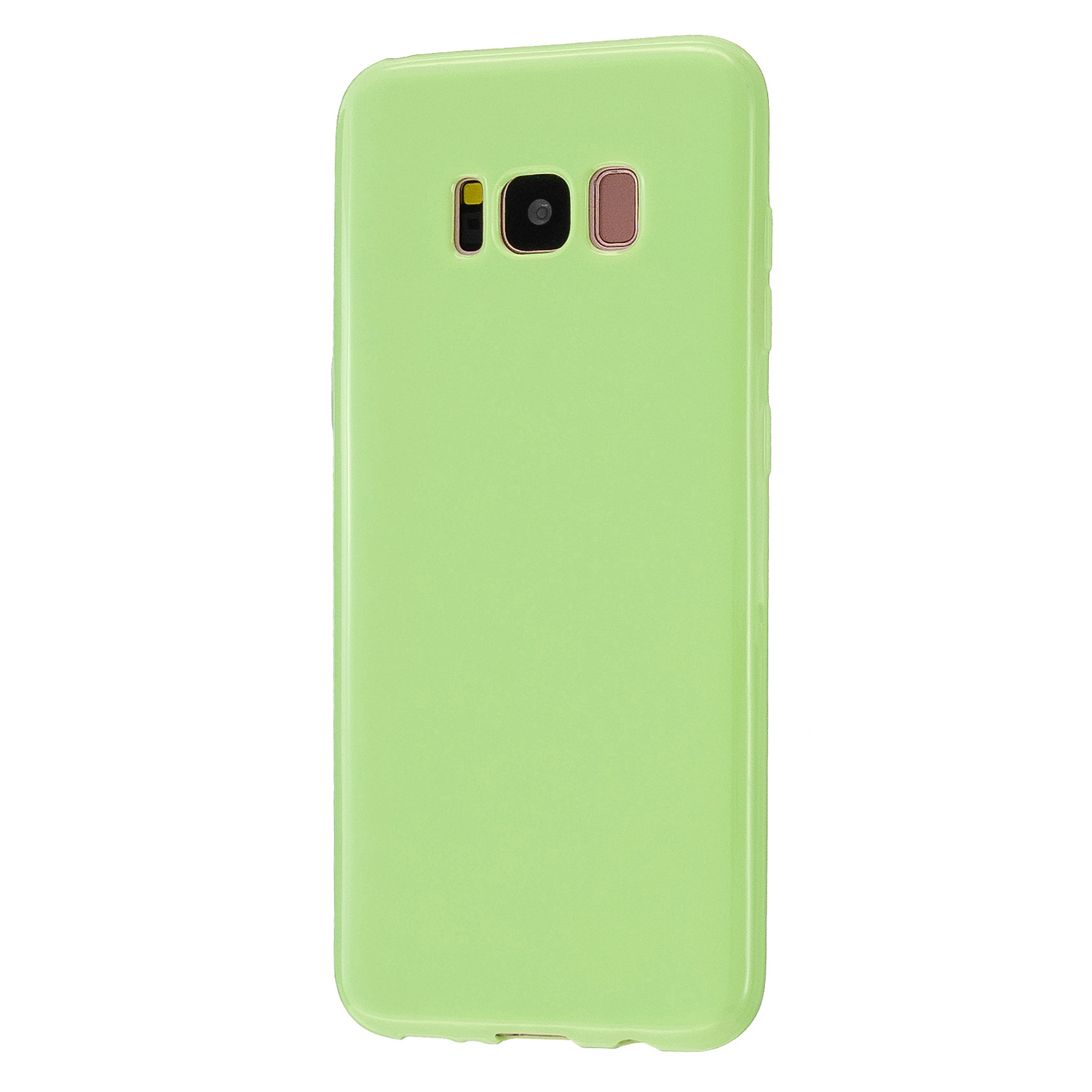 For Samsung S8/S8 Plus Smartphone Case Soft Hands Feel Precise Cutouts Anti-scrathc Mobile Phone TPU Shell Fluorescent green