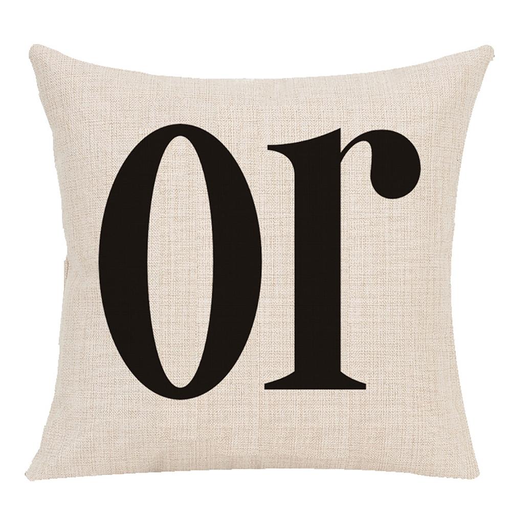 Pillow Case Halloween Pumpkin Trick or Treat Letters Decoration Flax Sofa Cushion Pillow Case Cover D_45*45cm