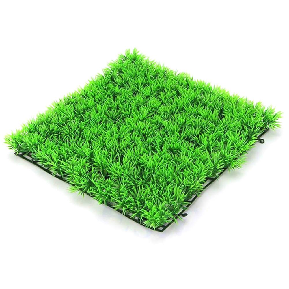 Simulate Water Plants Aquatic Plant Ornament for Aquarium Fish Tank Decoration  25*25*3cm grass blanket