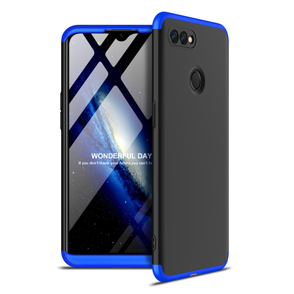 For OPPO A12 Mobile Phone Cover 360 Degree Full Protection Phone Case Blue black blue