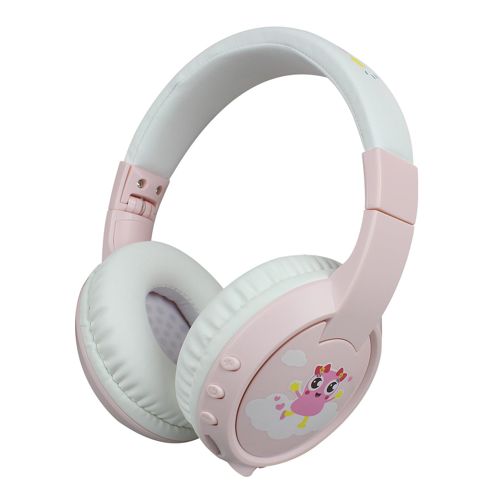 Children Bluetooth Headset BT5.0 Wireless Kids Headphone with HD Mic Support TF Card for Children Study/Entertainment Pink