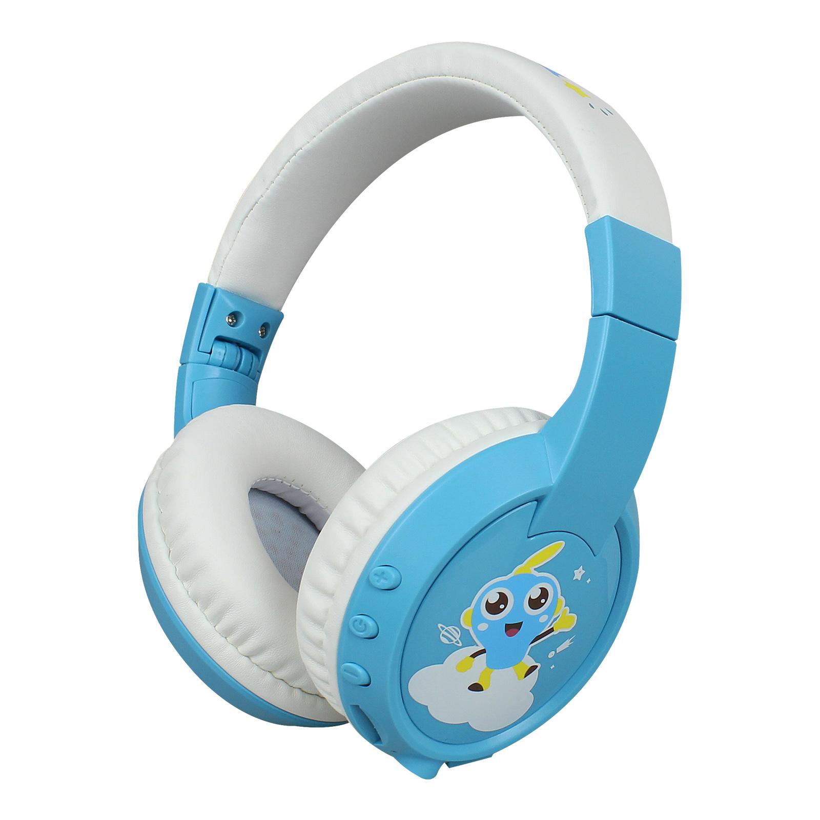 Children Bluetooth Headset BT5.0 Wireless Kids Headphone with HD Mic Support TF Card for Children Study/Entertainment blue