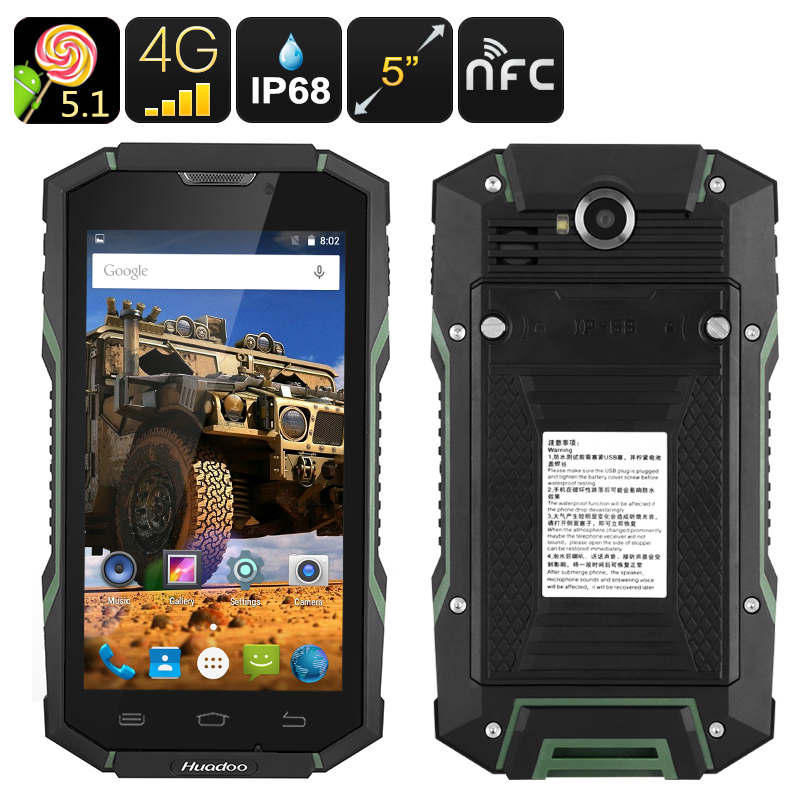 Huadoo HG06 Rugged Smartphone (Green)