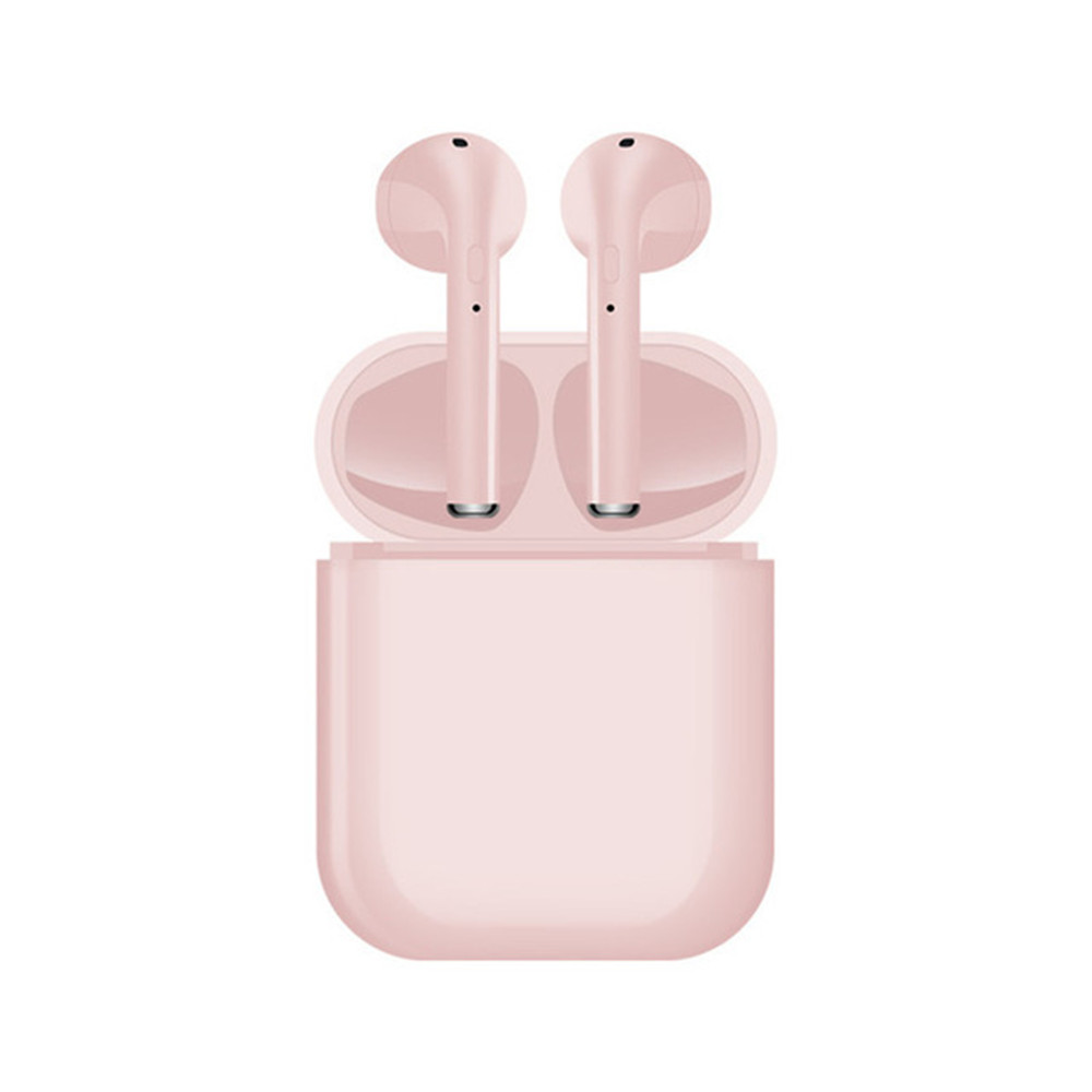i16 TWS Dual Wireless Bluetooth Earphone 5.0 Sport headset 3D Stereo Sound Earbuds With Microphone Pink