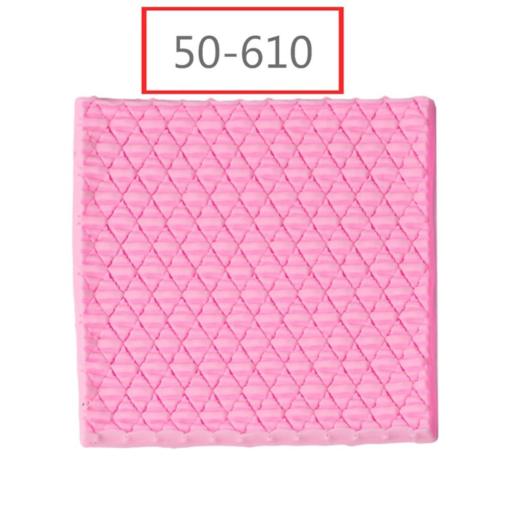 1pc Needle Knitting Texture Fondant Cake Decorating Craft Mold for Baking Pink 50-610