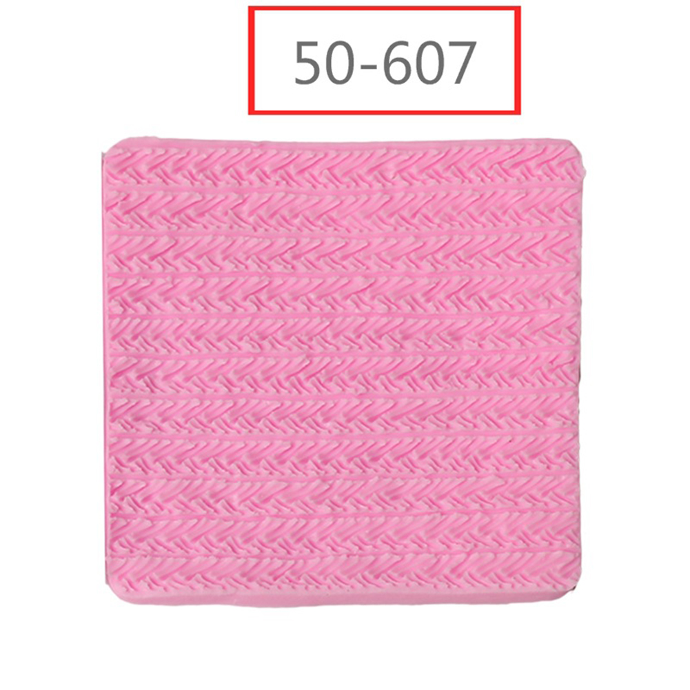1pc Needle Knitting Texture Fondant Cake Decorating Craft Mold for Baking Pink 50-607