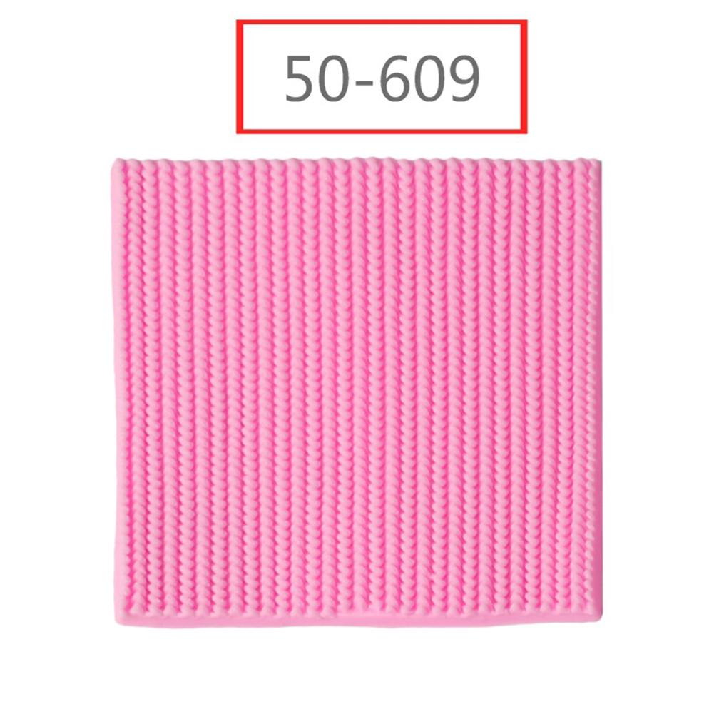 1pc Needle Knitting Texture Fondant Cake Decorating Craft Mold for Baking Pink 50-609