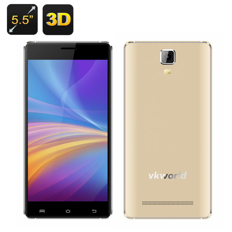 VKWorld Discovery S1 3D Smartphone (Gold)